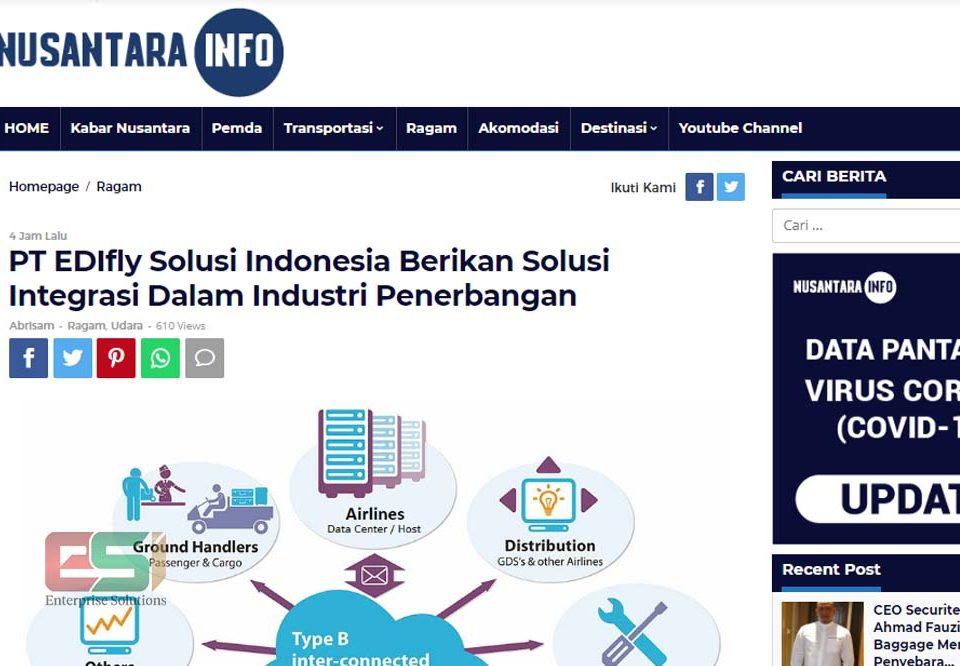 EDIfly Solusi Indonesia diliput oleh media Nusantara Info