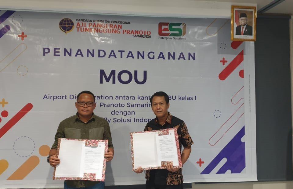 Penandatanganan MOU Airport Digitalization antara UPBU APT Pranoto Samarinda dengan EDIfly Solusi Indonesia